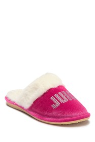 Juicy Couture Gabi Crystal Faux Fur Slipper