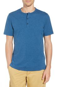 1901 Cotton Blend Short Sleeve Henley