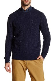 Barque Crew Neck Cable Knit Sweater