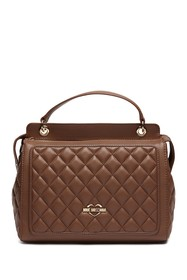 LOVE Moschino Quilted PU Leather Satchel Bag