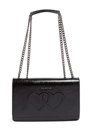 LOVE Moschino Embossed Hearts PU Leather Shoulder