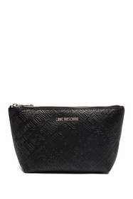 LOVE Moschino Embossed Logo Travel Pouch