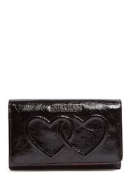 LOVE Moschino Embossed Hearts PU Leather Wallet