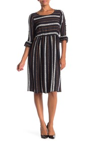Paolino Stripe Bell Sleeve Dress