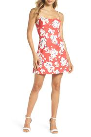 French Connection Print Sweetheart Minidress