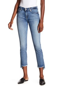 7 For All Mankind Skinny Kick Raw Step Hem Jeans