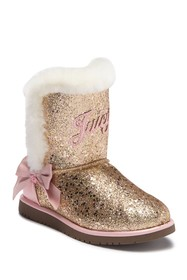 Juicy Couture Windsor Glitter Faux Fur Boot (Littl