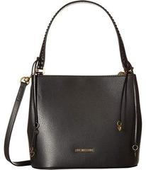 LOVE Moschino Shoulder Bag w/ Gold Heart Charms