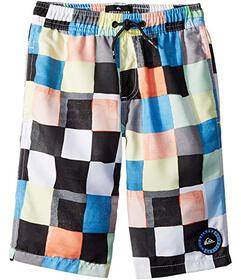 Quiksilver Kids Resin Check Volley Shorts (Big Kid