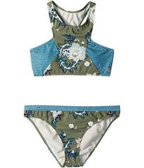 Roxy Surf the Desert Crop Top Swim Set (Big Kids)