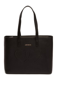LOVE Moschino Embossed Hearts PU Shoulder Bag