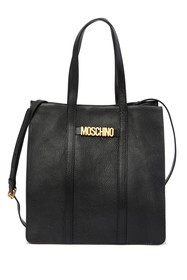 MOSCHINO Textured Leather Tote Bag