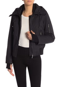 French Connection Faux Fur Trim Hooded Jacket