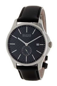 GUCCI Men's G-Timeless Leather Strap Watch
