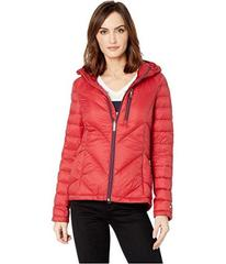 Tommy Hilfiger Packable Down Hooded Zip Front Jack