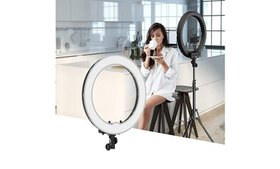 "12"" LED Ring Lights and 2m Light Stands Kit"