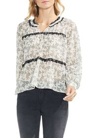Vince Camuto Ditsy Roses Ruffle Blouse