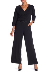 Max Studio Solid French Terry Jumpsuit