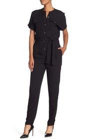 Theory Cargo Styled Silk Jumpsuit