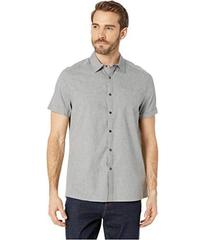 Kenneth Cole New York Short Sleeve Stripe Snap Shi
