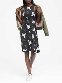 Floral Fit-and-Flare Dress