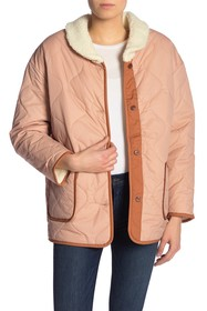 Levi's Faux Shearling Quilted Bomber Jacket