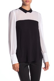BCBGeneration Colorblock Collared Shirt