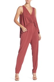 BCBGeneration Drapey-Back Surplice Jumpsuit