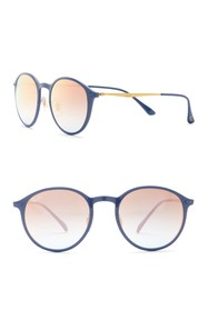 Ray-Ban 49mm Round LightRay Sunglasses