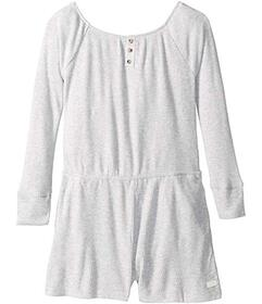 7 For All Mankind Brushed Rib Knit Romper (Big Kid