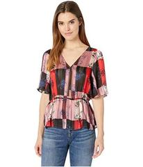 BCBGeneration Twist Back Surplice Top