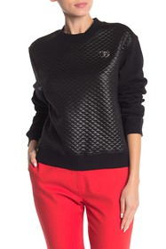 LOVE Moschino Quilted Knit Pullover