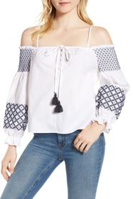 Rebecca Minkoff Tiffany Embroidered Cold Shoulder