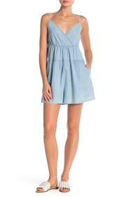 BCBGeneration Surplice Tiered Romper