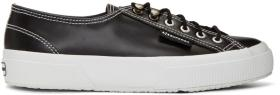 Alexachung Black Superga Edition Leather Sneakers