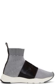 Balmain Black & White Cameron Sneakers