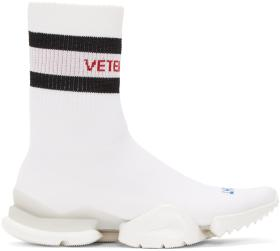 Vetements White Reebok Edition Sock Pump High-Top