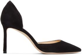 Jimmy Choo Black Suede Esther 85 Heels