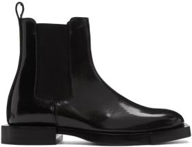 Alexander McQueen Black Leather Chelsea Boots