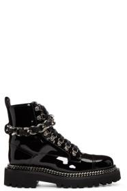 Balmain Black Chain Army Boots