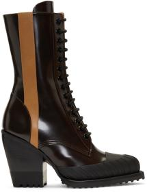 Chloé Burgundy Rylee Tall Hiking Boots