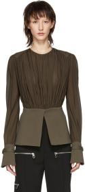 Chloé Brown Silk Blouse