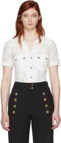 Chloé White Lace Patch Pocket Shirt