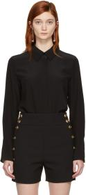 Chloé Black Bow Scarf Shirt