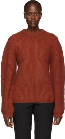 Chloé Orange Cashmere Crewneck Sweater