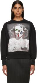 Alexander McQueen Black Portrait Bug Embroidered S