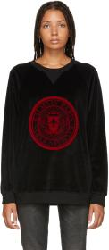 Balmain Black Velvet Coin Sweater