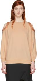Nina Ricci Pink Sequin Cut-Out Sweatshirt