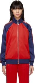 Marc Jacobs Red & Navy Logo Track Jacket