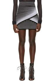 Balmain Black & White Optic Illusion Miniskirt